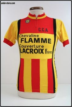 MAILLOT CYCLISME EQUIPE C.C.A LACROIX CYCLE rfFOOT916