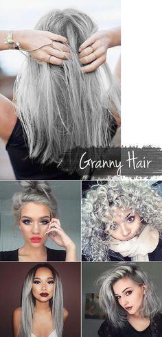 Granny Hair - Tendência 2015. Por: http://camilacoelho.com/page/8/:
