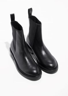 & Other Stories image 2 of Leather Chelsea Boots  in Black