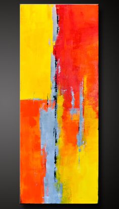 18 x 36 - Abstract Acrylic Painting - Contemporary Wall Art - Original Canvas. via Etsy.
