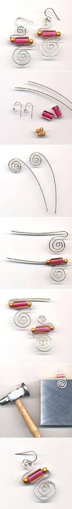 DIY Simple Stylish Wire Earrings: