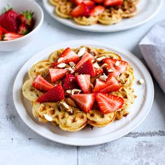Happy  Våffeldagen - try these gorgeous strawberry waffles for perfect Swedish food inspiration