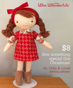 Kit, Chloe and Louise Pattern, Wee Wonderfuls