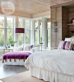 if for my master bedroom, probably wouldn't go with the purple accents but they really work well with this room