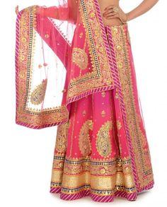 #ethnic #fashion #lehengalove #gopink #pinklove #wedding #bridalfashion #lovefashion #fashionblog https://www.facebook.com/nikhaarfashions