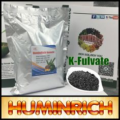 Huminrich Most-Effective Solution Formulation Natural Manure Potassium Humate Black Shiny Flake