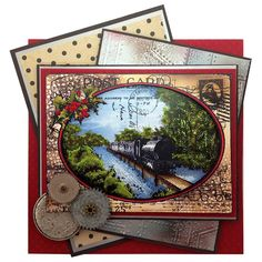 Stampendous - Train Postcard - Cling Rubber - CRR187