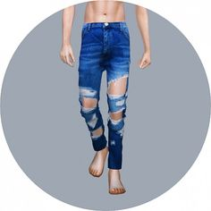 SIMS4 Marigold: Destroyed Jeans • Sims 4 Downloads