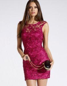 Lipsy Low Back Lace Dress