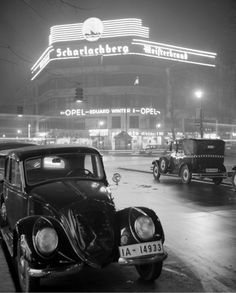 vintage everyday: 43 Amazing Photos Capture Street Scenes of Berlin in the Drive In, Berlin Spree, Berlin Photos, West Berlin, Dark City, Berlin Germany, East Germany, What Is Life About, Vintage Photos