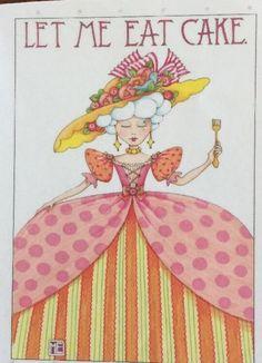 Handmade Fridge Magnet-Mary Engelbreit Artwork-Let Me Eat Cake