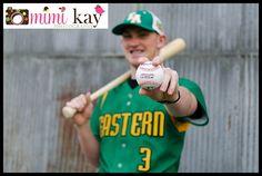 Senior boy, baseball pose, Senior Photography by Mimi Kay Photography in Cleveland, TN  www.mimikayphotography.com