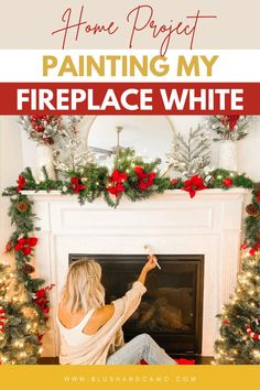 Tackling a home improvement project like painting your fireplace can be a little intimidating! But it doesn't have to be! Just follow my easy step by step instructions and you too will love the outcome! There are even before and after pictures! #diyhomeproject #paintyourfireplace #howto