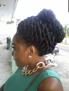 Rope Twists Updo. To learn how to grow your hair longer click here - http://blackhair.cc/1jSY2ux