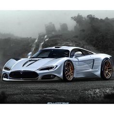 Tesla R45 based off the Saleen S7 and designed by Khyzyl Saleem!!!This Tesla Model R45 is all concept but if real could pack a 100kwh battery pack making over 700HP & over 800 lb-ft of torque!! 0-60MPH from 2.4-2.8sec and a 155MPH speed