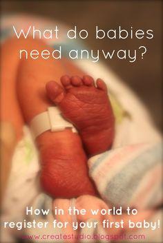 Baby registery list!