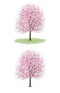 A nice pink cherry blossom tree with flowers and leaves. Useful as design element or clipart for your website, blog, scrapbook. Included in the archive are two hi-res transparent png images, ready …