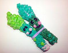 3-D Happy Asparagus Tutorial (Rainbow Loom) by Feelin' Spiffy.