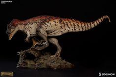 Dinosauria Ceratosaurus Statue by Sideshow Collectibles Jurassic Park Toys, Jurassic World Dinosaurs, Dinosaur Art, Dinosaur Toys, Dinosaur Drawing, Small Sculptures, Animal Sculptures, Prehistoric Creatures, Prehistoric Wildlife