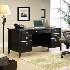 Find the Sauder Shoal Creek Executive Desk for an everyday low price at Walmart.com