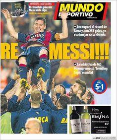 Portada Mundo Deportivo (23/11/2014) - ¡¡¡Rey Messi!!! - FC Barcelona Noticias
