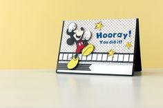Disney Mickey Hooray! card. Make It Now with the Cricut Explore machine in Cricut Design Space.