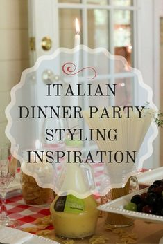 Be Inspired By This Fabulous Italian Dinner Party Decor Post. So Many  Wonderful Ideas From Table Decor To Music. | Olive Garden | Best Buy |  Google ...