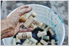 Dyeing Wine Corks