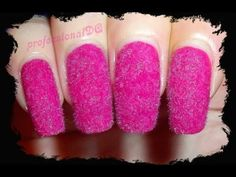Pink Fluffy Nails!! - YouTube