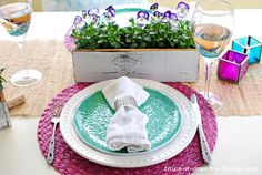 dining al fresco, spring table setting, tablescape,