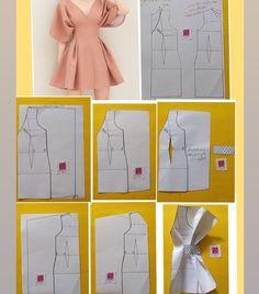 Fashion Sewing, Diy Fashion, Ideias Fashion, Fashion Outfits, Diy Clothing, Sewing Clothes, Sewing Coat, Doll Clothes, Dress Sewing Patterns