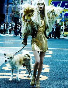 Rockin' Urban Fashion    Une série du photographe italien Giampaolo Sgura parue dans le Vogue Japon très Rock, très Glam, dans un Tokyo très urbain