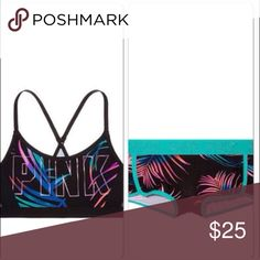 86bc5abedda VS pink M midnignit tropical ultimate sport bra Nip VS pink M boyshort panty  PINK Victoria s Secret Intimates   Sleepwear Bras