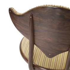 Peder Moos // Made 1978 // Rosewood, boxwood, ebony and original hand-woven fabric upholstery