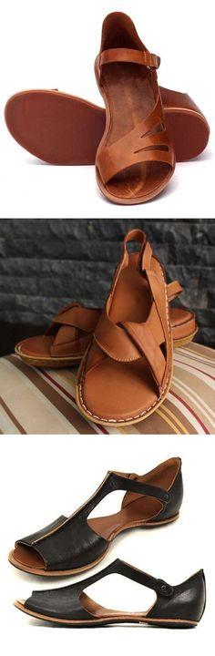 Flip Flops Sandals Mens Flats Dress Shoes ritish Style Slingbacks Hook Loop Chic