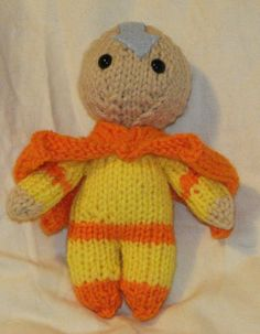 Avatar The Last Airbender Aang Doll by ElaynaBKnits on Etsy, $12.50