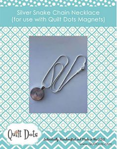 Interchangeable Silver Snake Chain Necklace- Quilt Dots