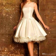 Hot ! New 2015 Cap Sleeves White And Ivory Satin A Line Knee Length Cocktail Dresses For Young Girls Special Occasion Cocktail Gowns Pageant Dresses Purple Dresses From Aijiayi, $102.36  Dhgate.Com