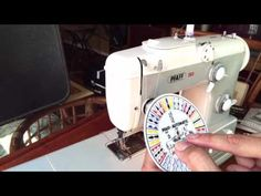 Pfaff 332 basics learn by doing automatic stitch patterns - YouTube