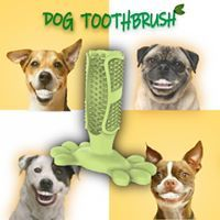 Many dogs suffer from 🦷 dental problems. This isn't just a cosmetic issue 👅 or a matter of ☢ bad breath... It can also have serious health consequences.⚠ Bad teeth can get infected. 🚑 And these infections can spread to the dog's kidneys, liver, or heart. 💔💔 That's why the American Veterinary Association 👩‍ recommends tooth brushing for dogs — every day. The thing is, it's a pain to brush a dog's teeth, and dogs can't do it themselves... Until now. A clever new invention just for YOU ❤