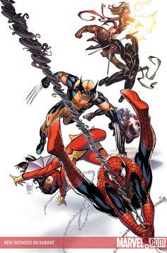 New Avengers by Adam Kubert