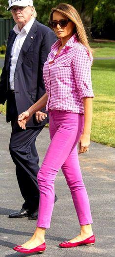 First Lady Fashion Melania Trump Pretty in Pink February 2019 Melania Trump Dress, First Lady Melania Trump, Trump Melania, Celebrity Outfits, Celebrity Style, Milania Trump Style, Preppy Style, My Style, Trump Is My President