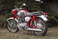 And it was in 1961 with the CB72 Honda Hawk, a 250cc motorcycle, and its larger brother the CB77 Super Hawk at 305cc
