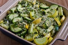 This was sooo good! I added fresh garlic and seasonings. Got the reci[e from Kalyn's Kitchen: Recipe for Easy Cheesy Zucchini Bake