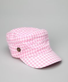 Look what I found on #zulily! Pink Spring Checker Cadet Cap by Tickled Pink #zulilyfinds