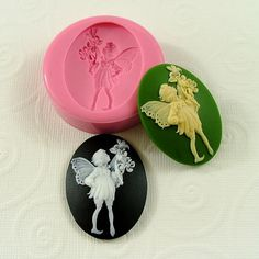 Fairy Cameo Flexible Silicone Mold/Mould (40mm) for Crafts, Jewelry, Scrapbooking, (wax, soap, resin, pmc, polymer clay) (247). $6.00, via Etsy.