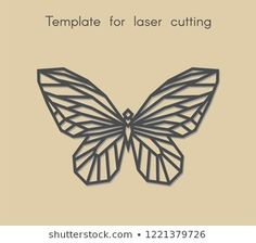 Template animal for laser cutting. Abstract geometric butterfly for cut. Stencil for decorative panel of wood, metal, paper. Bird Logos, 3d Printed Jewelry, Cnc Projects, Park Art, Decorative Panels, Craft Corner, Love Drawings, Stock Foto, Geometric Art