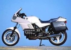 Faired BMW K100RS http://www.motorcyclespecs.co.za/model/bmw/bmw_k100rs%2083.htm