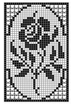 How to #Crochet a Beautiful Rose Flower in Filet Crochet: Filet Crochet Rose Chart