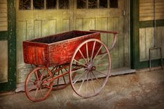 Wagon - That Old Red Wagon  Photograph  -